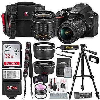 Nikon D3500 DSLR Camera with AF-P DX NIKKOR 18-55mm f/3.5-5.6G VR Lens + 32GB Card Flash Tripod and Bundle