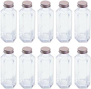 日本製 ハーバリウム 六角柱ガラス瓶 100cc 10本セット