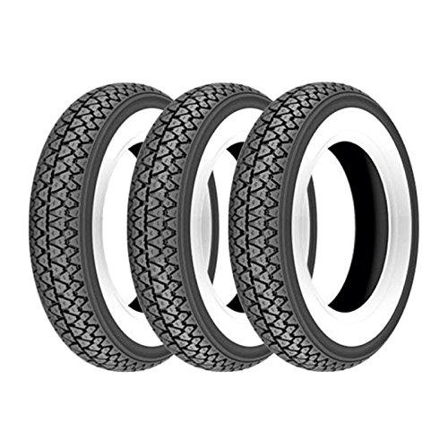 Trois pneus Kenda K333 bande blanche 3.50-10 51J Vespa PX 125/150