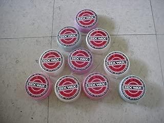 10-Pk Sex Wax Sexwax Surfboard wax Asst Colors Warm Water