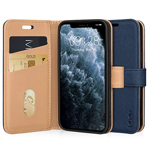 Labato iPhone12 mini ケース 手帳型 iPhone12 mini 5.4インチ カバー あいふぉん12ミニ ケース 人気 カード収納 スタンド機能 マグネット式 ワイヤレス充電対応 Qi充電 高級PUレザー スマホケース12ミニ 全面保護 財布型 (iPhone 12 mini, ディープブルー)