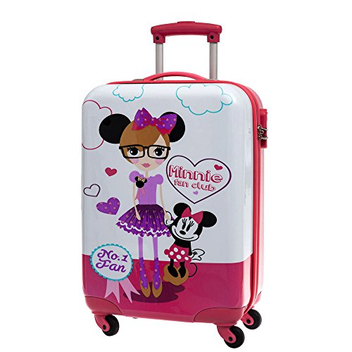 Disney Valise Minnie Fan Bagage Cabine, 55 cm, 35 L, Blanc
