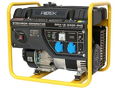 Rotek Benzin Stromerzeuger GG4-1A-3400-5HZ (3,4 kVA / 230V 50Hz 1-phasig)
