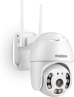 TMEZON PTZ Dome kamera do monitoringu, do użytku zewnętrznego, Wi-Fi, 1080p, czujnik ruchu, automatyczne śledzenie, widocz...