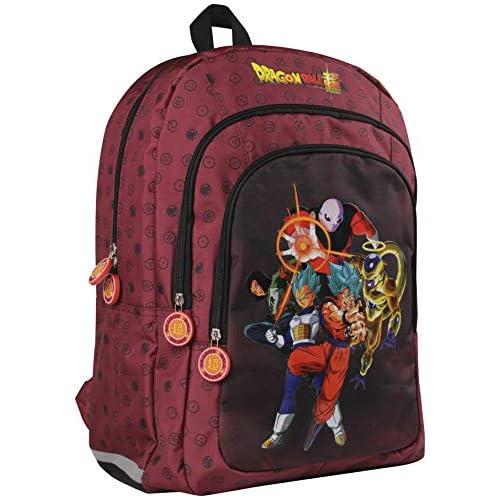 Clairefontaine Dragon Ball Zainetto per bambini 44 centimeters Rosso (Bordeaux)