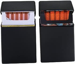 Egipcio Patr/ón Funda de cuero de cigarrillos de metal Capacidad para 14/cigarrillos para 100/s marr/ón
