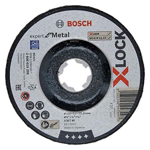 Bosch Professional gekröpfte Schruppscheibe Expert (für Metall, X-LOCK, Ø125 mm, BohrungsØ: 22,23 mm, Dicke:6 mm)