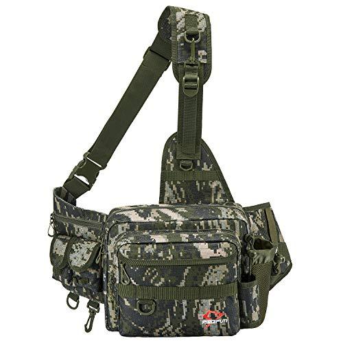 ピシファン(Piscifun)ショルダーバッグ タックルバッグ 大容量 アウトドア用 釣り用 撮影用 撥水加工 迷彩