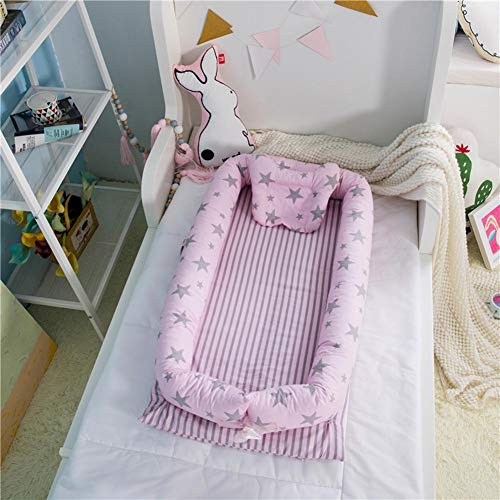Buy Bargain Newborn Bed Baby Lounger, with Star Pattern Baby Snuggle Nest, for Travel Lightweight Be...