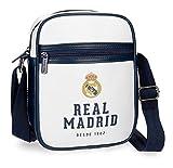 Real Madrid RM GOL Bolso Bandolera, 22 cm, 2.24 litros, Blanco