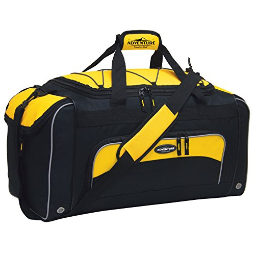 "Travelers Club 24"" ADVENTURE Travel and Outdoor Duffle Bag, Yellow Option Indiana"