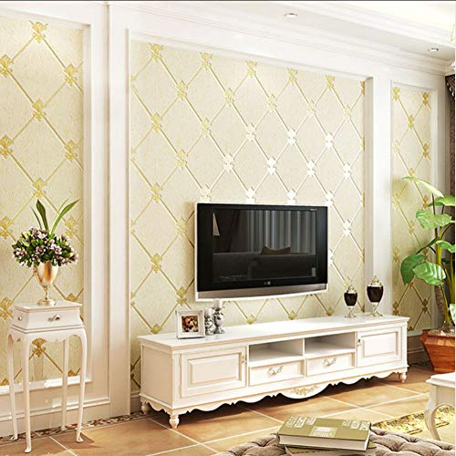 Europäischen Stil Wohnzimmer TV Hintergrund Wanddekoration Tapete 3D Verdickung Vlies Feuchtraumtapete Papel De Parede-280X200CM