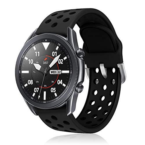 YPSNH Compatible para Samsung Galaxy Watch 3 45mm Correa de Silicona Suave Pulsera Gear S3 22mm Correa Reemplazo de Pulsera Deportiva para Gear S3 Frontier/S3 Classic/Galaxy Watch 46mm