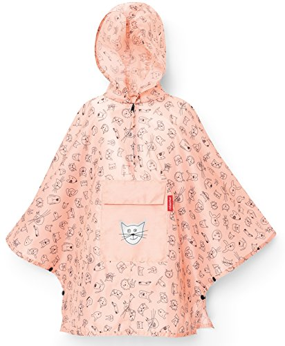 reisenthel mini maxi poncho M kids - cats and dogs rose Maße: 93 x 62 x 0 cm