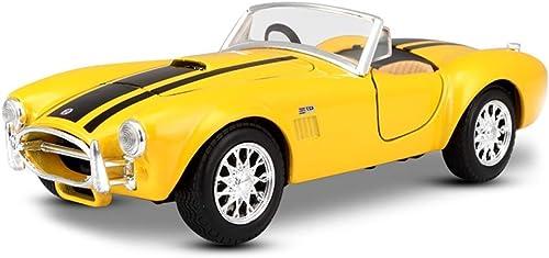 al precio mas bajo YaPin YaPin YaPin Model Car 1 24 Shelby Cobra 427 Modelo de Coche Original Modelo de Aleación de Coche de Juguete Adornos 17.5x7x5CM Modelo de Coche ( Color   amarillo )  Obtén lo ultimo
