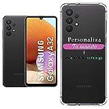Movilshop Funda Personalizada [Samsung Galaxy A32 4G] Esquina Reforzada Silicona 1.5mm de Grosor Flexible Transparente de Gel TPU