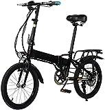 Bicicleta Eléctrica Viaje a Ebike, 300W 18 pulgadas Adultos Bicicleta eléctrica plegable con sistema de control remoto y asiento trasero 48V batería extraíble freno de disco trasero Unisex Lithium bat