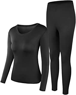 Thermal Underwear Women Ultra-Soft Long Johns Set Base Layer Skiing Winter Warm Top & Bottom …