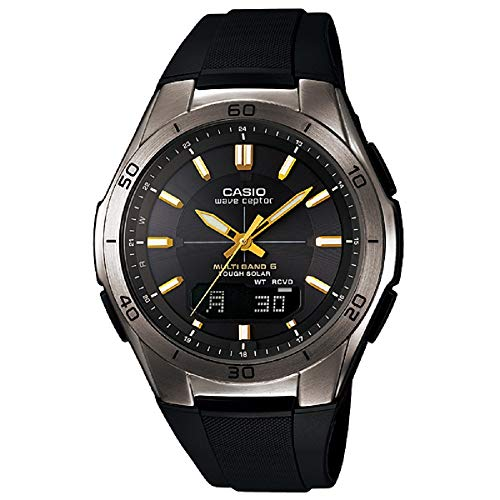 [カシオ] 腕時計 ウェーブセプター 電波ソーラー WVA-M640B-1A2JF ブラック