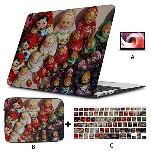 Macbook Pro 2017 Accessories Colorful Russian Nesting Dolls Macbook Case Hard Shell Mac Air 11'/13' Pro 13'/15'/16' With Notebook Sleeve Bag For Macbook 2008-2020 Version