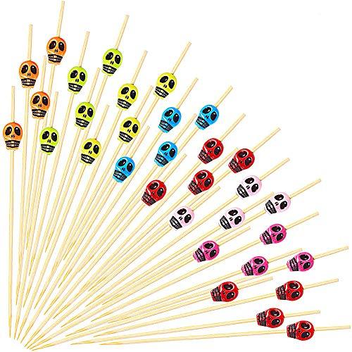 CHEPL Cocktail-Sticks 100PCS Piraten Cocktail Zahnstocher 12CM Cocktail Party Dekorationen für Cocktails Vorspeisen Früchte Desserts Partyzubehör Obstspieß-Piraten Party Picks