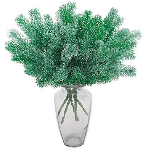 Aisamco 5 stuks kunstdennentak groene planten dennennaalden DIY accessoires voor slingers krans Kerstmis verfraaien en huis tuin decoratie