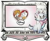 Disney Baby - Los Aristogatos Colección Premium - Marco de fotos decorativo - Ideal para habitaciones infantiles - Plata - Imagen de Marie en 3D y en color