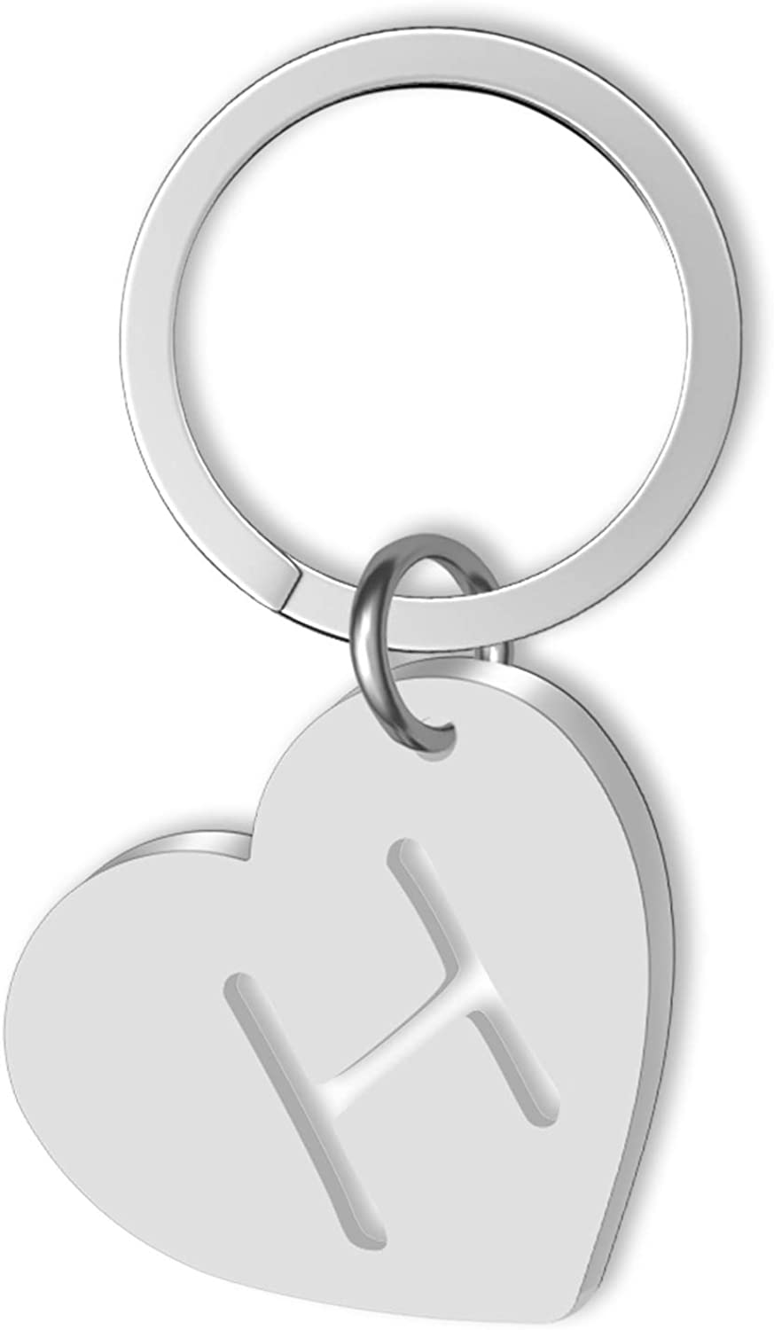 Personalized Initial Keychain Hollow Out Keychain Cut Out Alphabet Letter A-Z Key Ring for Women Initial Charms