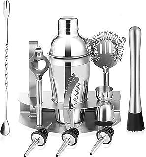 Cocktail Shaker Set Barmender Kit, 12 stuk Cocktail Shaker Set voor gemengde drank, professionele roestvrijstalen bar gere...