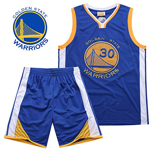 Hanbao Kinder NBA Warriors 30# Curry Jersey Männlichen Basketball Kleidung Anzug Trainingsbekleidung Outdoor Sport Kleidung