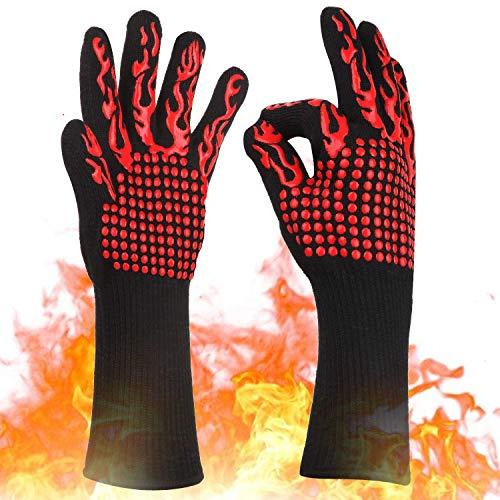 KITHELP Heat Resistant Gloves, BBQ Gloves 1472℉ Grilling Gloves Used for Cooking Glove Baking Glove Grill mitt