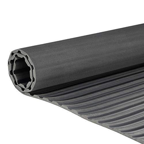 Breitriefenmatte | 1m² 1,0 x 1,0m [Größe wählbar] Stärke: 3mm | Farbe: Schwarz