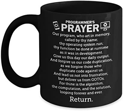 Programmer Coffee Mug Funny Programmer s Prayer Software Engineer Best Gifts For Friends Women product image