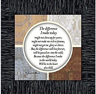 Crossroads Home Décor The Difference I Make Today, Teacher Gifts, Parents Gifts, 6x6 75527CH