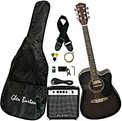 Best Acoustic Electric Guitar under 200 US Dollars - Glen Burton GA204BCO-BK