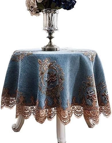 Tafelkleed van stof, rond, groot, decoratief, stofdicht, rond, rond, tafelkleed (grootte: rond tafelkleed 100 cm), grootte: rond 240 cm,
