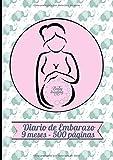 Diario de Embarazo 9 meses - 500 páginas: Elegante planificador con elefantes - Con...