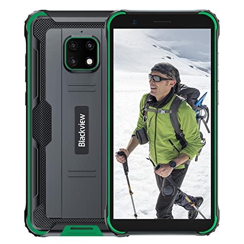Blackview 4900 Pro Outdoor Smartphone ohne Vertrag Android 10 Dual SIM Karte 4G Handy 5.7 Zoll HD Bildschirm,5580mAh 4GB RAM+64GB ROM/128GB, 13MP Hintere Dreifachkamera NFC,Face ID,GPS (Grün)