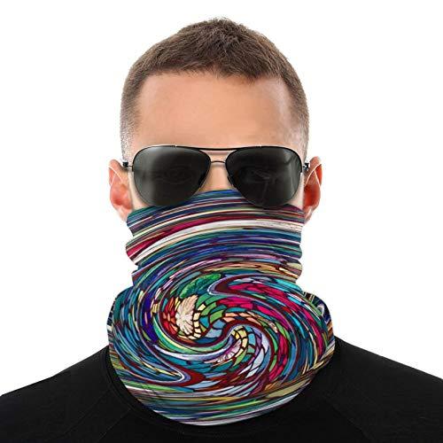 Spiral Hintergrund Gesichtsschutz Unisex Bandana Neck Gaiter Kopfbedeckung Multifunktionale Schal Sturmhaube Für Outdoor-Sport Staub Sonne Wind