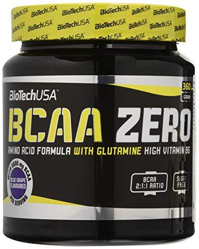 BCAA Zero 360 g - Blue Grape (Blaue Traube) - zucker-freies Getränkepulver BiotechUSA