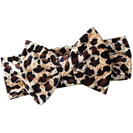 Scrunchie  headband  Bow HeadbandClip newborn baby toddler  80s   pastel  womens leopard print