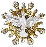Religiöse Geschenke Konfirmation Andenken Geschenk Heiliger Geist Gottes 17,8 cm Wandschild Trinity Taube Statue