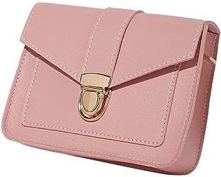 Wultia - Vintage Leather Hotsale Women Wedding Clutches Ladies Party Purse Famous Designer Crossbody Shoulder Messenger Bags #T09 Pink