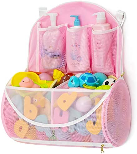 Mesh Bath Toy Organizer with YKK Zipper Bathtub Toy Laundry Bag Multiple Ways to Hang Ultra product image