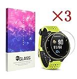 Ruputas 3X Garmin Forerunner 235 Protector de Pantalla 9H 2.5D Vidrio Templado Protector Foils, Antihuellas, Antideslumbrante, Sin Burbujas Película de Protección (3 Packs)