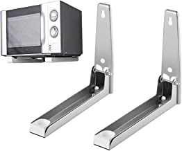 22.5-38.5cm Edelstahl Qulista 2 klappbare Mikrowellenhalterung Wand Mikrowellenhalter Edelstahl rostfrei universal