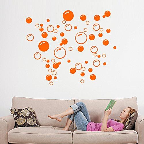 paomo Vinilo adhesivo de pared con burbujas de agua, 86 piezas para cuarto de baño, habitación de los niños, papel de arte de pared