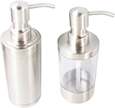 Zeeppomp RVS aanrecht zeepdispenser 280ml Liquid Fles for Keuken Badkamer Hand Lotion Dispenser voor vloeibare zeep (Color...