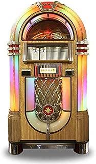 Rock-Ola Bubbler CD Jukebox in Light Oak with Bluetooth - Holds 100 CDs
