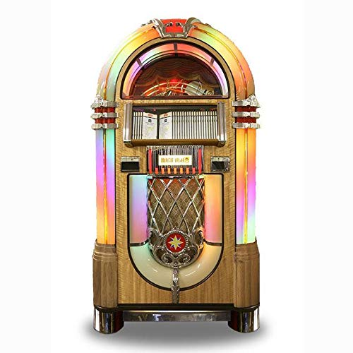 Cheapest Prices! Rock-Ola | Bubbler CD Jukebox with Bluetooth (Light Oak)